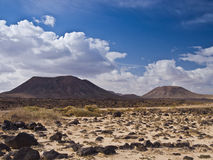 Stony desert and hills Stock Images