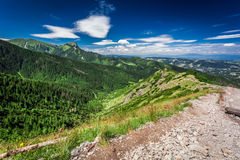 Stony footpath in the mountains Royalty Free Stock Photo