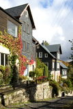 Stony hill. Old slate houses in a mountainous village Royalty Free Stock Images