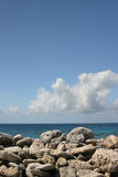 Stony horizon. Horizon, ocean and stones Royalty Free Stock Photo