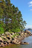 Stony islands in finland gulf Royalty Free Stock Image