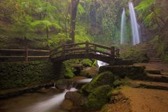 Stony Jumog Waterfall Central Java Stock Photos