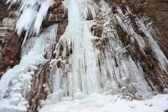 Stony Kill Falls Ice Wall Royalty Free Stock Photography