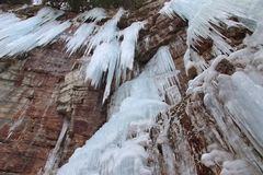 Stony Kill Falls Icicle Cliffs stock photography