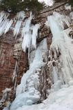 Stony Kill Falls Icicles royalty free stock photo