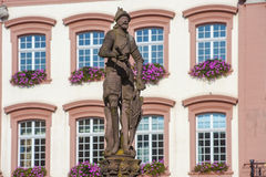 The Stony Knight on the Röhr Fountain in Gengenbach. The Stony Knight on the Röhr Fountain in Gengenbach, Black Forest, Baden-Wuerttemberg, Germany, Europe Royalty Free Stock Image