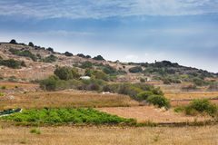 Stony land in Malta. Reclamation of stony soil on the island of Malta is hard for small farmers Royalty Free Stock Photos