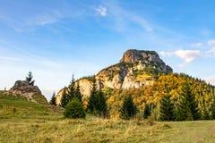 Stony Little Rozsutec hill in autumn landscape Stock Photo