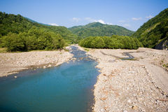 Stony mountain river stock photography