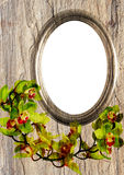 Stony oval frame Stock Image
