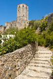 Stony path to old fortification - Pocitelj. Royalty Free Stock Image