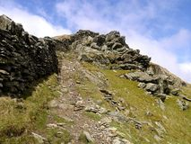 Stony path up to High Pike, Lake District Royalty Free Stock Photo