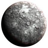 Stony planet. The stonet planet, 3D rendering, isolated, fantasy Royalty Free Stock Photos
