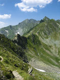 Stony ridge. In Fagaras mountain. This place is called Tree step to death Royalty Free Stock Photos