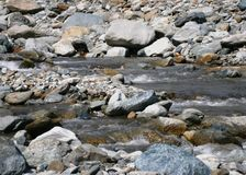 Stony Riverbed Stock Images
