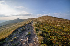 Stony road in mountains Royalty Free Stock Image