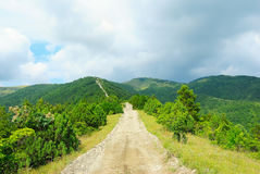 The stony road in the Caucasus mountains, Russia Stock Image
