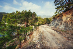 The stony road in the mountains. Royalty Free Stock Photos