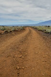 Stony Road at Volcanic Desert Royalty Free Stock Images