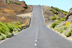 Stony Road at Volcanic Desert Stock Image