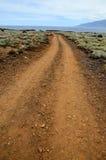 Stony Road at Volcanic Desert Stock Photo