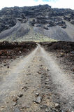 Stony Road at Volcanic Desert Royalty Free Stock Photos