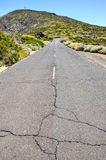 Stony Road at Volcanic Desert Royalty Free Stock Image