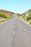 Stony Road at Volcanic Desert Royalty Free Stock Photo