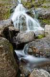 Stony scenic waterfall in Todtnau Stock Photo
