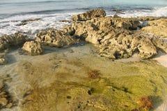 Stony Seashore. Strange combination of light and shade on stony seashore Stock Photography