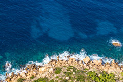 Stony Shore Of Cap Canaille Cliff-Cassis,France Royalty Free Stock Image