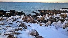 Stony shore. Stock Photo