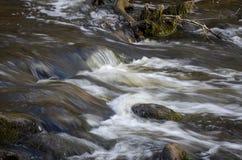 River Dūkšta flows in the Neris Regional Park in Lithuania. A stony stream of Dūkšta flows in the Neris Regional Park between the Buivydai and royalty free stock image