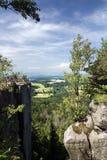 Stony viewpoint - summer landscape Stock Photo