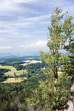 Stony viewpoint - summer landscape Royalty Free Stock Photography