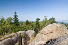 Stony viewpoint - summer landscape Stock Image