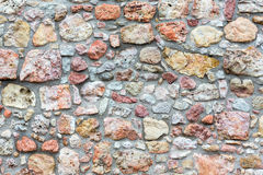 Stony wall background. Royalty Free Stock Photo