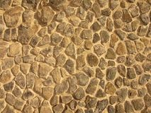 Stony wall from nature material, broken marl stone , traditional building materials. Stock Photography