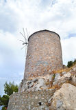 Stony windmill at Hydra island Greece Stock Images