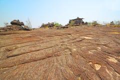 Stony yard at Phu Pha Toeb,Muk-da-han,Thailand Royalty Free Stock Image