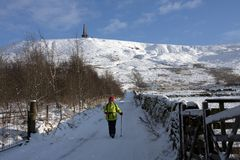 Stoodley Pike Royalty Free Stock Photo