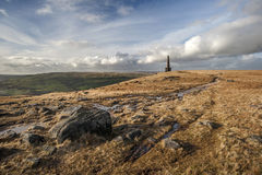 Stoodley Pike Monument, Pennine Way Stock Images