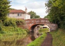Stook van van Pondbrug, Worcester en Birmingham Kanaal op royalty-vrije stock foto