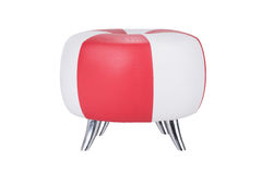 Stool chair. Red and white stool chair on white background, isolate Royalty Free Stock Photo