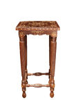 Stool-with-inlay-front-view Royalty Free Stock Images