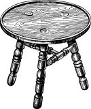 Stool made from natural wood Royalty Free Stock Images