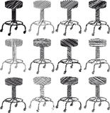 Stool sketch illustration Stock Photos