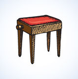 Stool. Vector drawing Royalty Free Stock Image