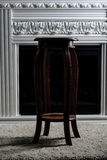 Stool. Wooden stool in the room Stock Photo