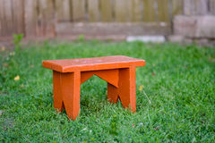 Stool in a yard Royalty Free Stock Photos